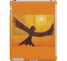 Red Crow Repulsing the Monkey original painting iPad Case/Skin