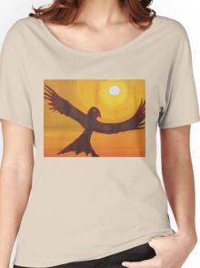 Red Crow Repulsing the Monkey original painting Women's Relaxed Fit T-Shirt