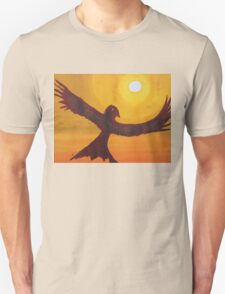 Red Crow Repulsing the Monkey original painting Unisex T-Shirt