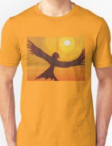 Red Crow Repulsing the Monkey original painting Unisex T-Shirt