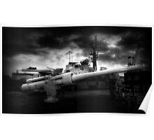 QF 6 inch /40 naval gun Poster