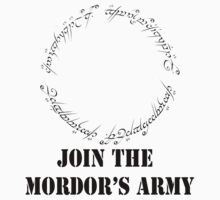 Join The MORDOR'S ARMY (black version) by saviorum