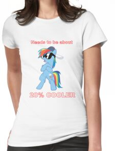 Rainbow Dash - 20% COOLER Womens Fitted T-Shirt