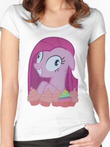 Pinkamena [SFW] (+Cupcakes!) Women's Fitted Scoop T-Shirt