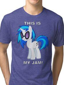 Vinyl Scratch DJ PON-3 THIS IS MY JAM! Tri-blend T-Shirt