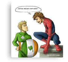 Spidey and Cap Canvas Print