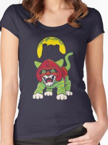 Battle Kitty's Mighty RAWR!  Women's Fitted Scoop T-Shirt
