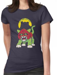 Battle Kitty's Mighty RAWR!  Womens Fitted T-Shirt