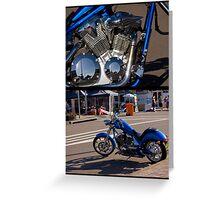 Honda - Blue Lightning Greeting Card