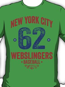 New York City Webslingers Baseball T-Shirt