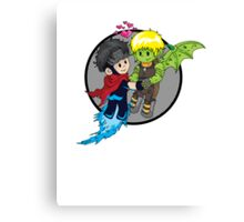 Wiccan and Hulkling Canvas Print