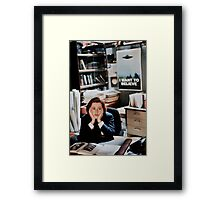 DANA SCULLY x files Framed Print