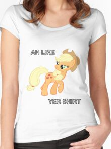 Applejack Likes Your Shirt Women's Fitted Scoop T-Shirt