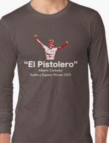 Alberto Contador Vuelta Winner 2012 Long Sleeve T-Shirt