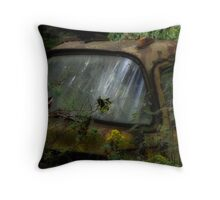 Broken by time Throw Pillow