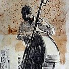 jazz bass man study by Loui  Jover