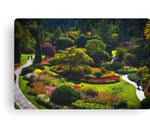 Sunken Garden - Butchart Garden Canvas Print