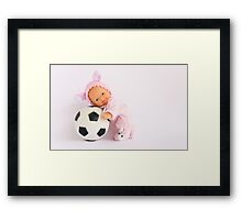 I love Football :) Framed Print