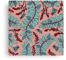 Sandelholz flower pattern Canvas Print