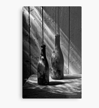Old Wine Bottles Metal Print