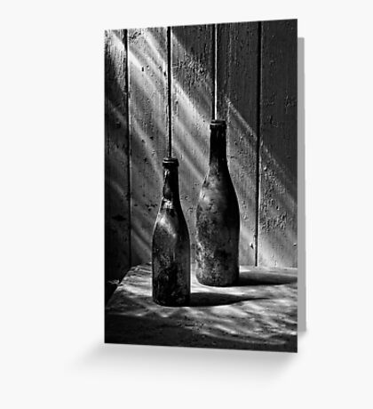 Old Wine Bottles Greeting Card