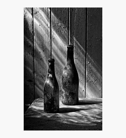 Old Wine Bottles Photographic Print