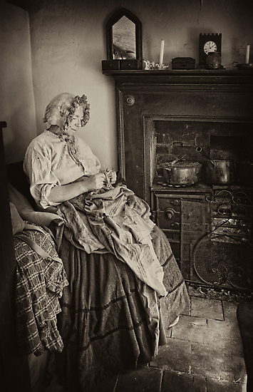 Darning by the fire by Patricia Jacobs CPAGB LRPS BPE3