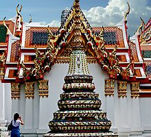 Doi Suthep Stupa And Shrine by phil decocco