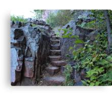 Rock Stairway Canvas Print