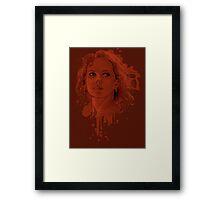 Red in my Ledger Framed Print