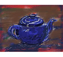 Blue Teapot Photographic Print