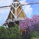 Hazewind Mill, Geiten, Holland C 1883 by Jsimone