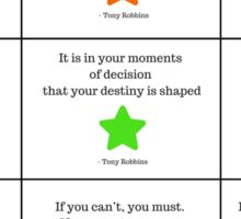 Tony Robbins Inspirational and Motivational Quotes   Sticker