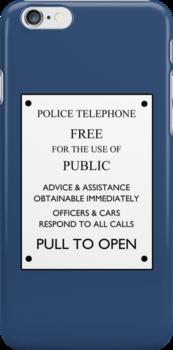 TARDIS Door Sign by IntWanderer