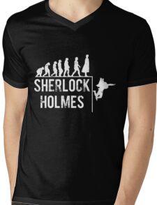 Sherlock Holmes the evolution of man Mens V-Neck T-Shirt