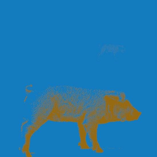 Blue Pig by PrinceRobbie