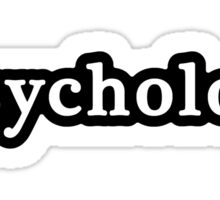 Psychology - Hashtag - Black & White Sticker