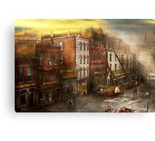 Fireman - Washington DC - Fire at Bedell's Bedding 1915 Canvas Print