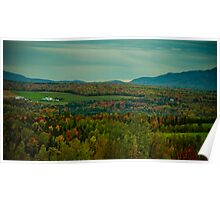 Country Farm in a Sea of Fall Colors Poster