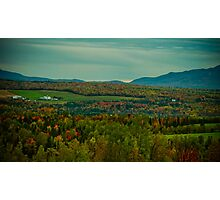 Country Farm in a Sea of Fall Colors Photographic Print