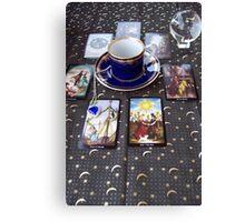 Tarot reading and tea Canvas Print