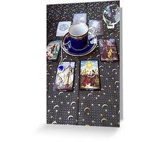 Tarot reading and tea Greeting Card