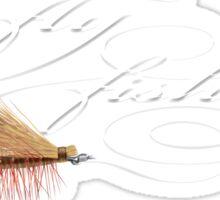 Fly fishing elk hair caddis Sticker