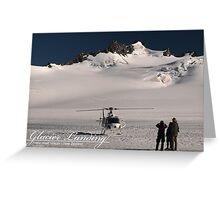 Glacier Landing Greeting Card