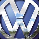 Blue Volkswagen VW logo iphone 4 4s, iPhone 3Gs, iPod Touch 4g case by www. pointsalestore.com