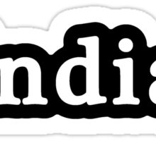 Indian - Hashtag - Black & White Sticker