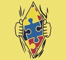 Autism Superhero One Piece - Short Sleeve