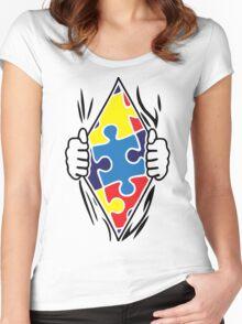 Autism Superhero Women's Fitted Scoop T-Shirt
