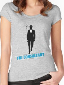 White Collar Consultant Women's Fitted Scoop T-Shirt