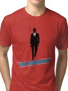 White Collar Consultant Tri-blend T-Shirt